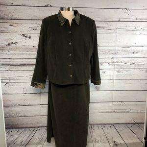 Jessica Howard 2 piece dress and jacket set dark